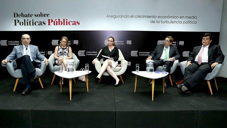 Ministra de Economía, Claudia Cooper, participó en debate organizado por Escuela de Posgrado de la Universidad Continental (Video)
