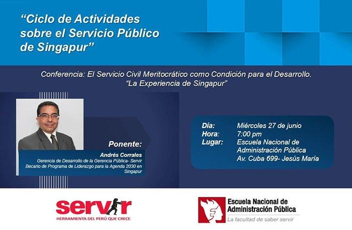 Conferencia sobre el Servicio Civil meritocrático como condición para el desarrollo