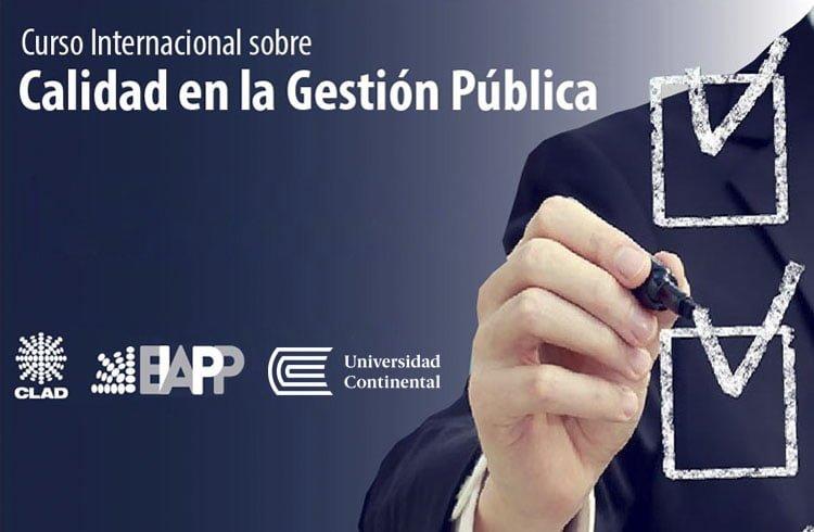 """Curso Internacional """"Calidad en la Gestión Pública"""""""