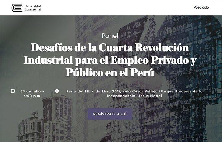 """FIL 2019: Panel """"Desafíos de la cuarta revolución industrial para el empleo privado y público en el Perú"""""""
