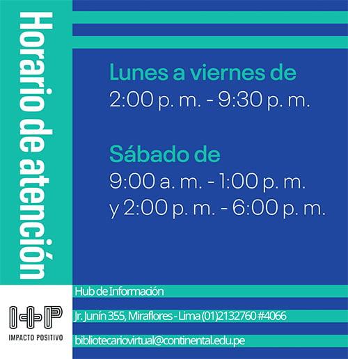 Los horarios de atención del Hub de Información
