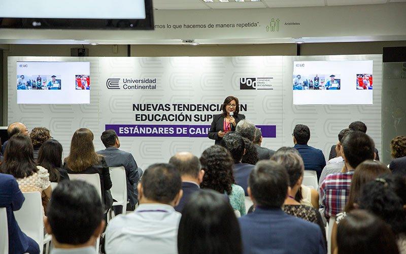 Universidad Continental realizó evento sobre nuevas tendencias en educación superior, junto a la UOC y con apoyo del IFC